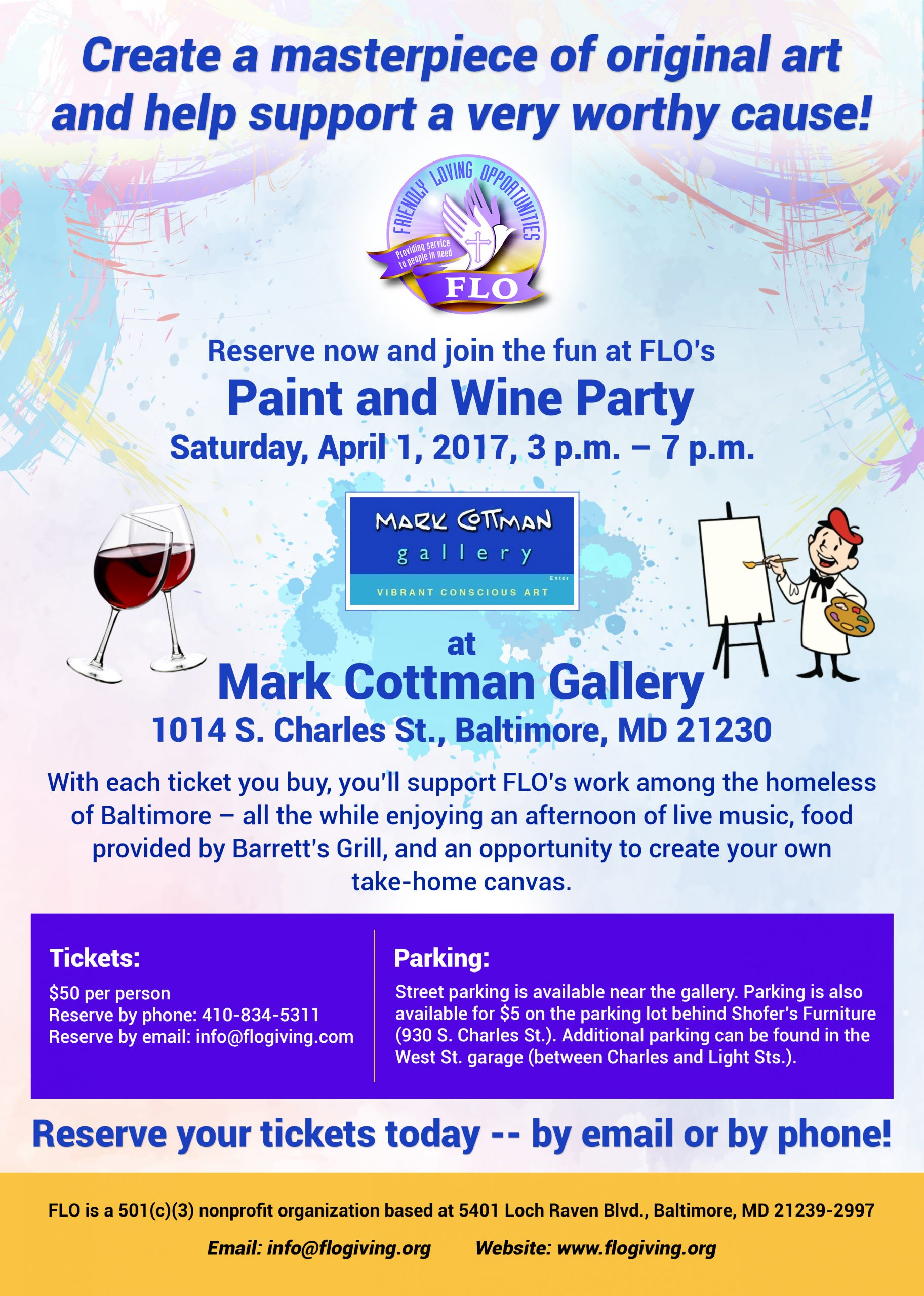 FLO-Paint-Wine-Flyer