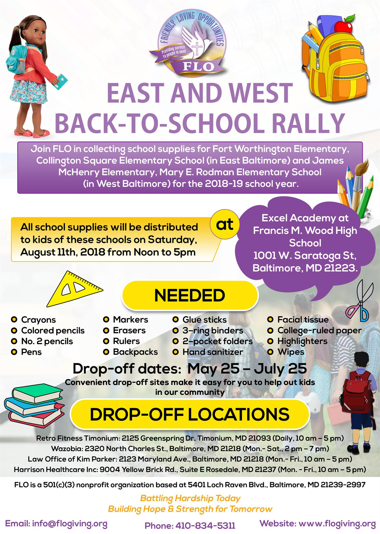 East and West Back to School Rally