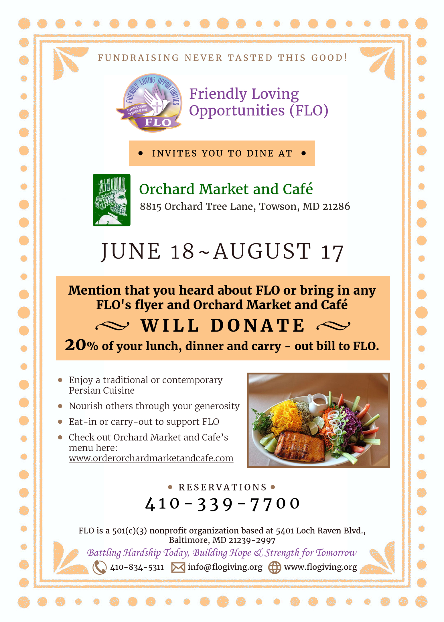 Fundraiser: Dining out for a purpose